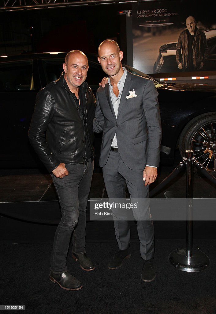 John Varvatos (L) and GQ's Chris Mitchell attend GQ, Chrysler, And John Varvatos Celebrate The Launch Of The 2013 Chrysler 300C on September 11, 2012 in New York City.