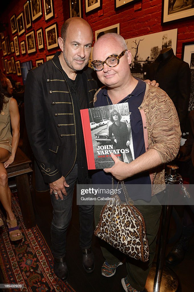 John Varvatos and Mickey Boardman attends the Rock in Fashion Book Launch at John Varvatos South Beach Miami on October 19, 2013 in Miami, Florida.