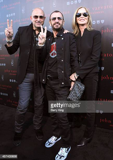 John Varvatos musician Ringo Starr and Barbara Bach attend the International Peace Day celebration at John Varvatos on September 21 2014 in Los...