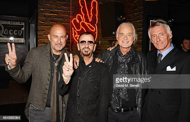 John Varvatos Ringo Starr Jimmy Page and Paul Weller attend as John Varvatos launch their first European store in London on September 3 2014 in...