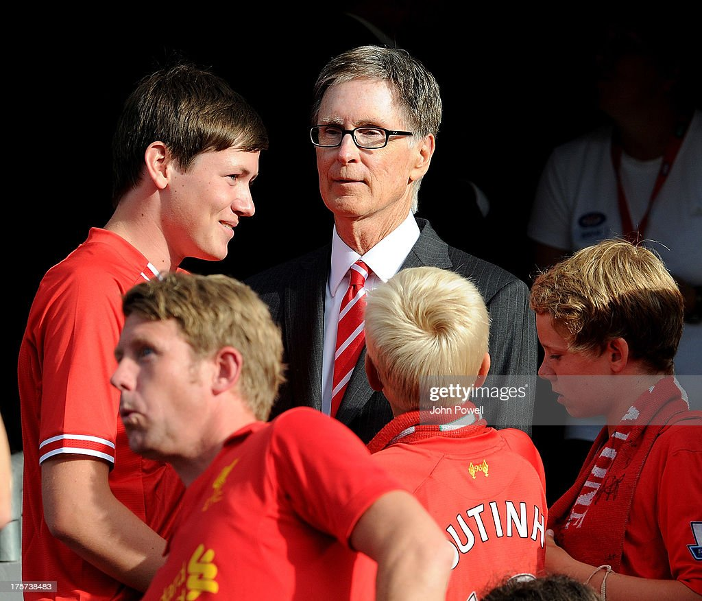 John W Henry owner of Liverpool watches during a Pre Season Friendly between Valarenga and Liverpool, at Ullevaal Stadion on August 7, 2013 in Oslo, Norway.