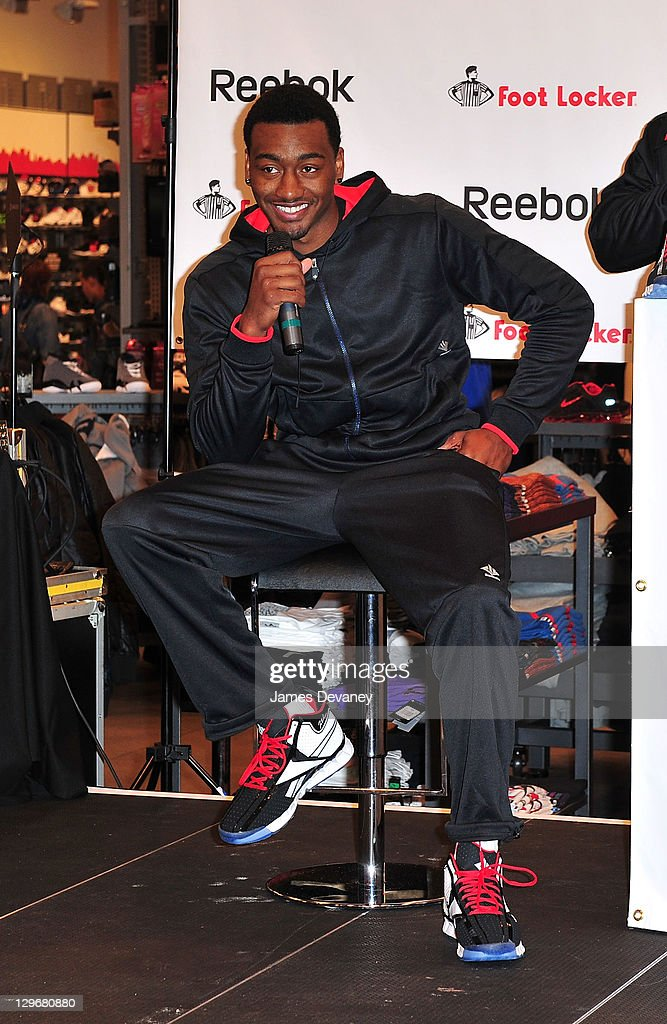 John Wall attends the debut of the 'Zig Encore' footwear line & the 'J Wall' apparel lines at Foot Locker - Herald Square on October 19, 2011 in New York City.