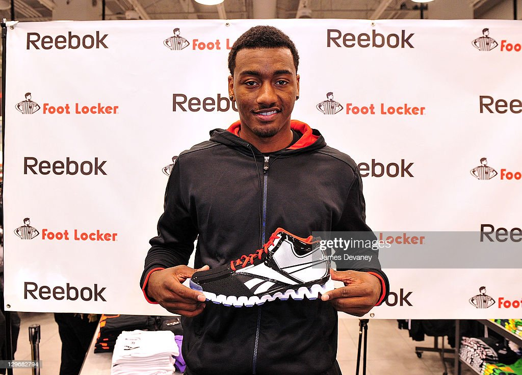 <a gi-track='captionPersonalityLinkClicked' href=/galleries/search?phrase=John+Wall&family=editorial&specificpeople=2265812 ng-click='$event.stopPropagation()'>John Wall</a> attends the debut of the 'Zig Encore' footwear line & the 'J Wall' apparel lines at Foot Locker - Herald Square on October 19, 2011 in New York City.
