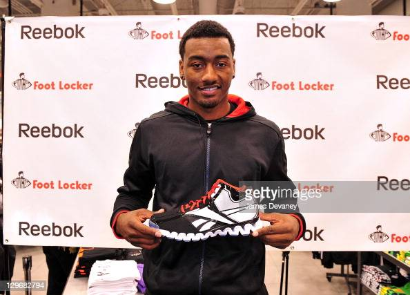 John Wall attends the debut of the 'Zig Encore' footwear line the 'J Wall' apparel lines at Foot Locker Herald Square on October 19 2011 in New York...