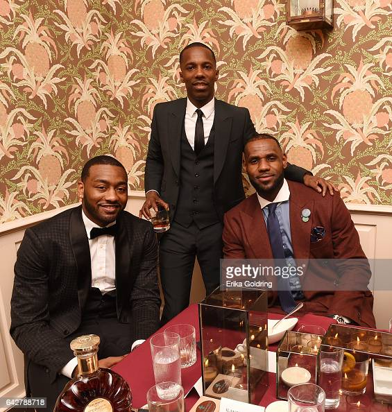 John Wall CEO of Klutch Sports Group Rich Paul and LeBron James attend the Rémy Martin and Klutch Sports Group toast their All Stars event on...