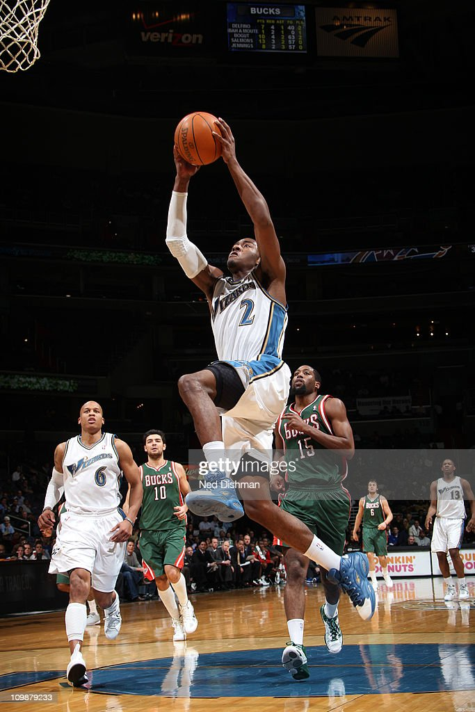 <a gi-track='captionPersonalityLinkClicked' href=/galleries/search?phrase=John+Wall&family=editorial&specificpeople=2265812 ng-click='$event.stopPropagation()'>John Wall</a> #2 of the Washington Wizards dunks against the Milwaukee Bucks during the game at the Verizon Center on March 8, 2011 in Washington, DC.