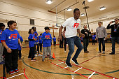 John Wall of the Washington Wizards participates in NBA Cares/FIT Day of Service at PS 019 Asher Levy during the 2015 NBA AllStar on February 13 2015...