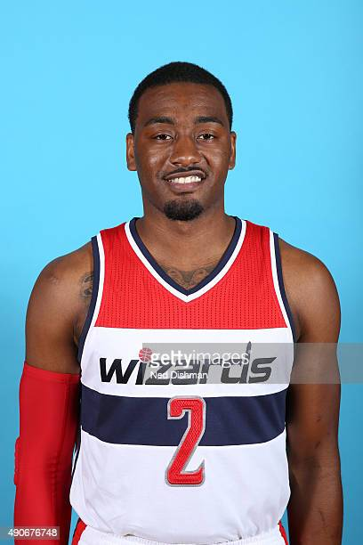 John Wall of the Washington Wizards poses for a photo during 2015 media day at the Verizon Center on May 18 2015 in Washington DC NOTE TO USER User...