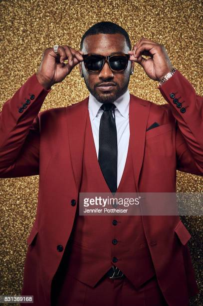 John Wall of the Washington Wizards poses for a portrait at the NBA Awards Show on June 26 2017 at Basketball City at Pier 36 in New York City New...
