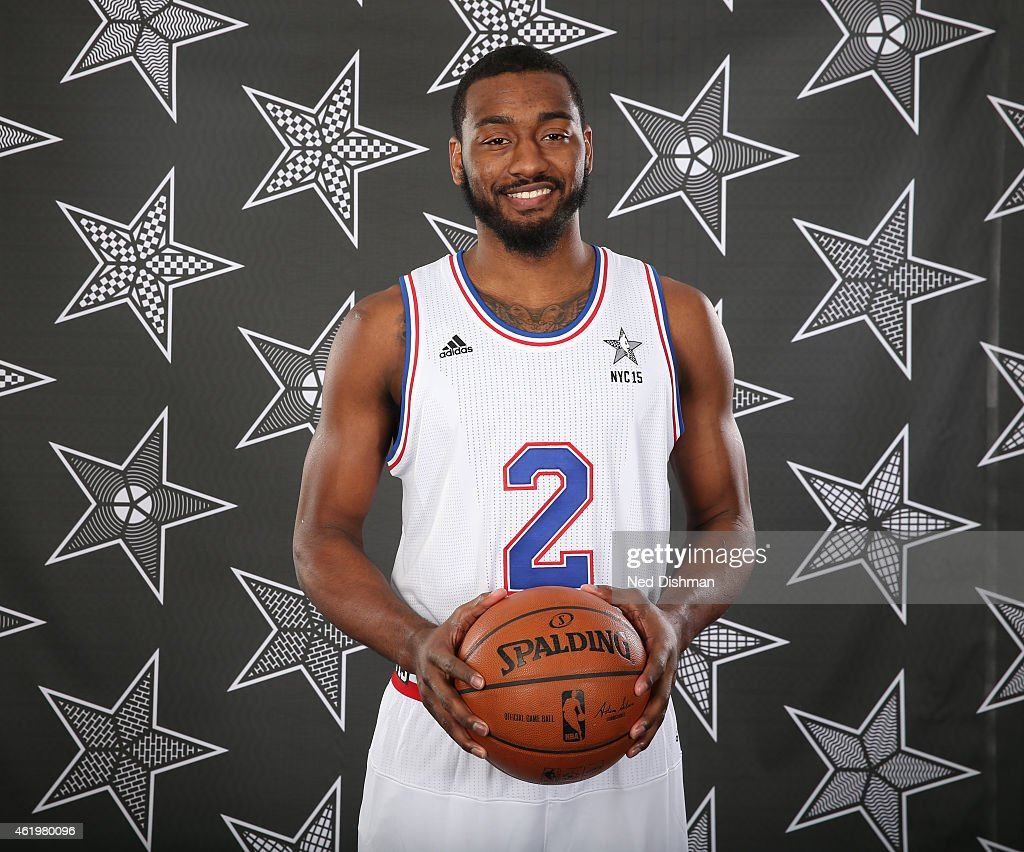 John Wall of the Washington Wizards poses for an All Star Starter photo on January 22 2015 at Verizon Center in Washington DC NOTE TO USER User...