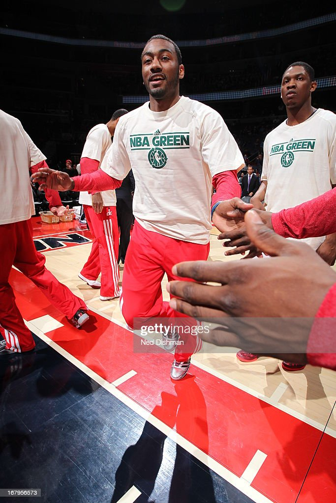<a gi-track='captionPersonalityLinkClicked' href=/galleries/search?phrase=John+Wall&family=editorial&specificpeople=2265812 ng-click='$event.stopPropagation()'>John Wall</a> #2 of the Washington Wizards runs out before the game against the Indiana Pacers at the Verizon Center on April 6, 2013 in Washington, DC.