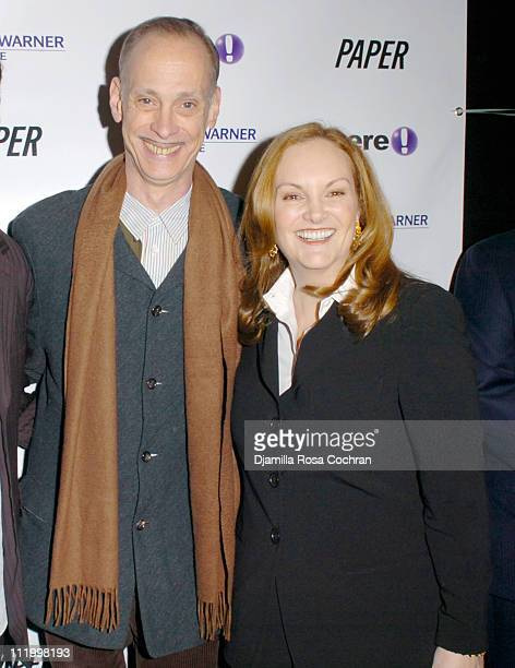John Waters and Patricia Hearst during 'John Waters Presents Movies That Will Corrupt You' Launch Party at Happy Valley in New York City New York...