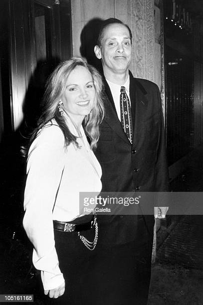 John Waters and Patty Hearst during 'Serial Mom' New York City Screening at Leows Screening Room in New York City New York United States