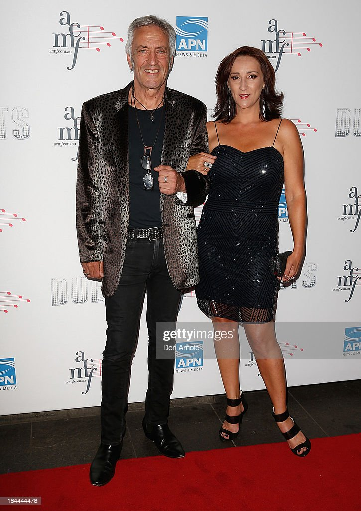 John Waters and Sheena Crouch pose at the 4th Annual Duets Gala concert at the Capitol Theatre on October 14, 2013 in Sydney, Australia.