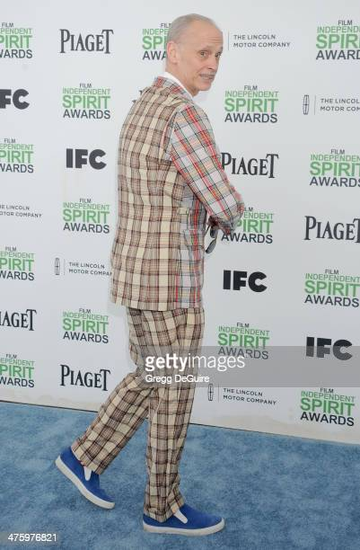 John Waters arrives at the 2014 Film Independent Spirit Awards on March 1 2014 in Santa Monica California