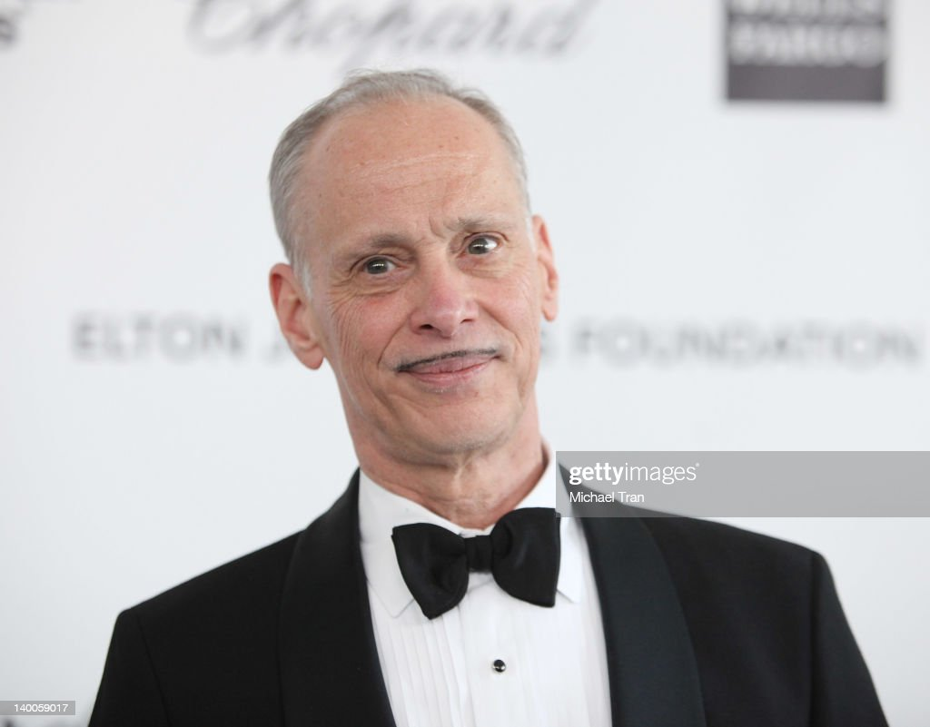 John Waters arrives at the 20th Annual Elton John AIDS Foundation Academy Awards viewing party held across the street from the Pacific Design Center on February 26, 2012 in West Hollywood, California.