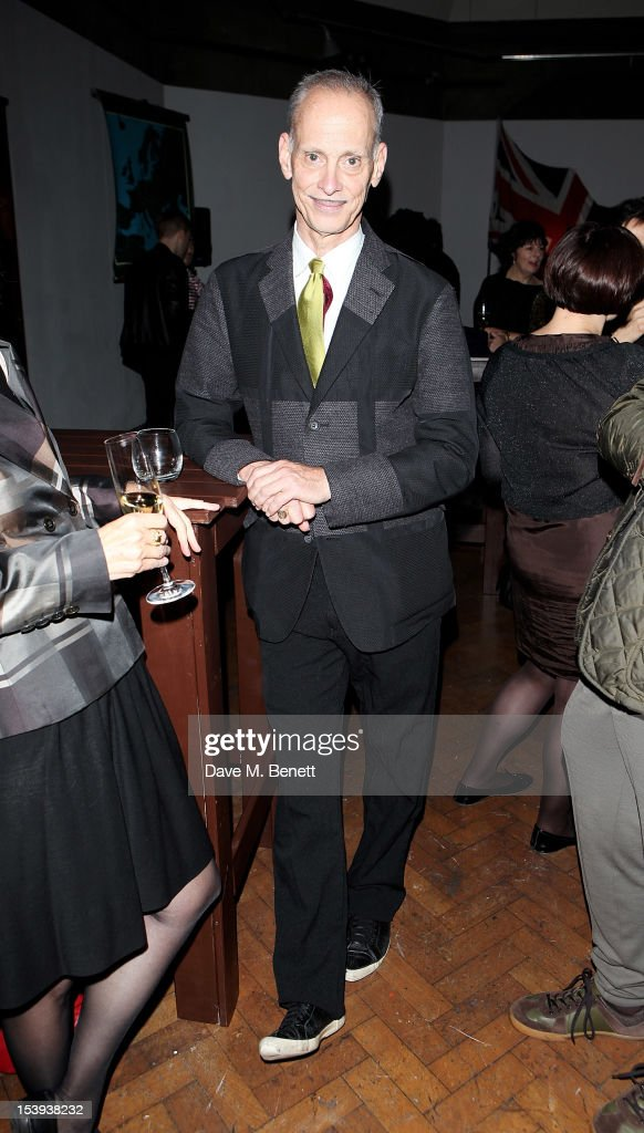 <a gi-track='captionPersonalityLinkClicked' href=/galleries/search?phrase=John+Waters+-+Director&family=editorial&specificpeople=209202 ng-click='$event.stopPropagation()'>John Waters</a> attends a private dinner hosted by Matthew Slotover and Amanda Sharp to celebrate the Frieze Projects and the Emdash Awards 2012 at Central St. Martin's on October 11, 2012 in London, England.