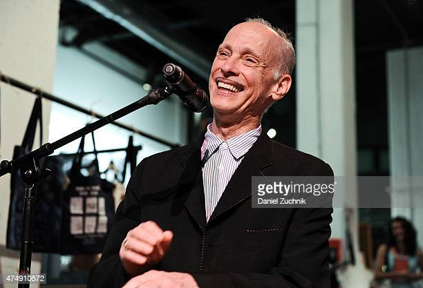 John Waters speaks during the book launch party for his book 'Carsick' at PowerHouse Arena on May 27 2015 in New York City