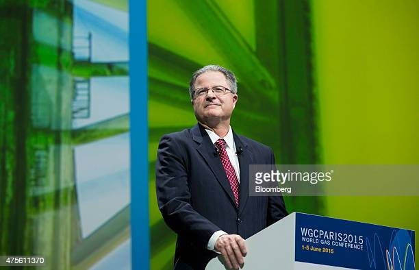 John Watson chairman and chief executive officer of Chevron Corp pauses during the World Gas Conference in Paris France on Tuesday June 2 2015 Oil...