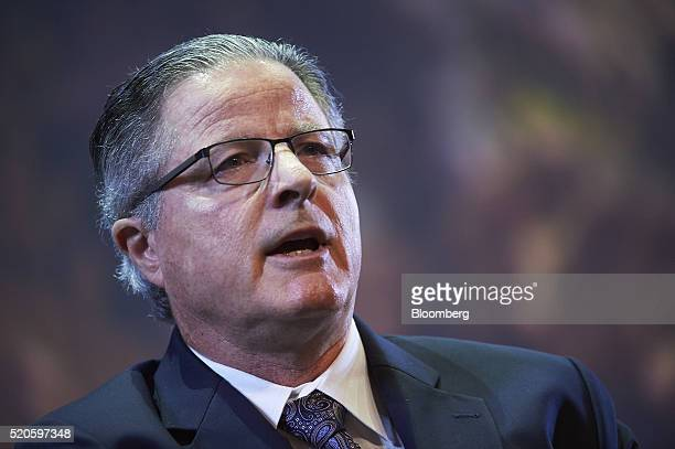 John Watson chairman and chief executive officer of Chevron Corp speaks during the International Conference Exhibition on Liquefied Natural Gas in...
