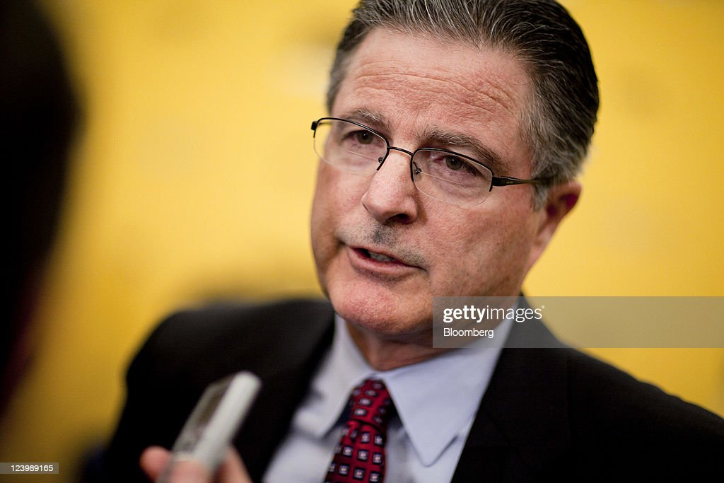 John Watson chairman and chief executive officer of Chevron Corp speaks to the media following an interview at the American Petroleum Institute...
