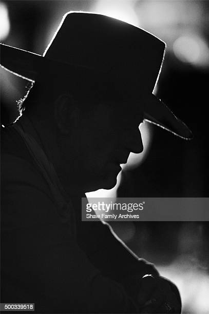 John Wayne in 1961 during the filming of 'Comancheros' in Hollywood California