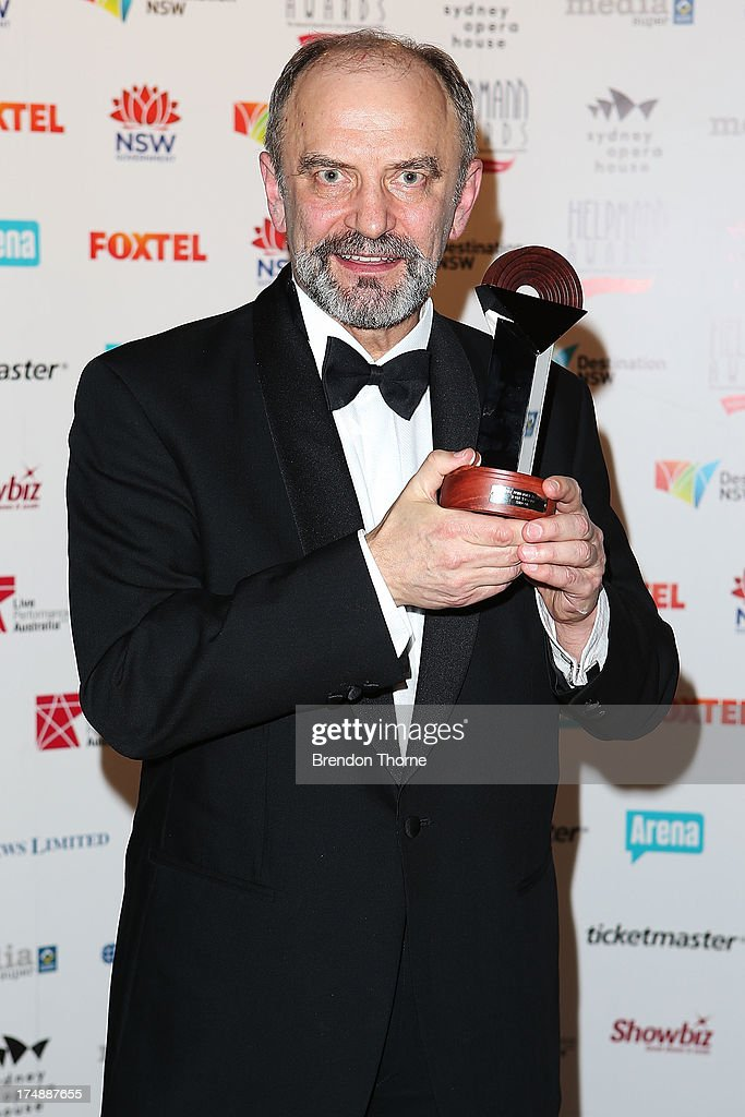John Wegner poses with the award for Best Male Performer in a Opera at the 2013 Helpmann Awards at the Sydney Opera House on July 29, 2013 in Sydney, Australia.