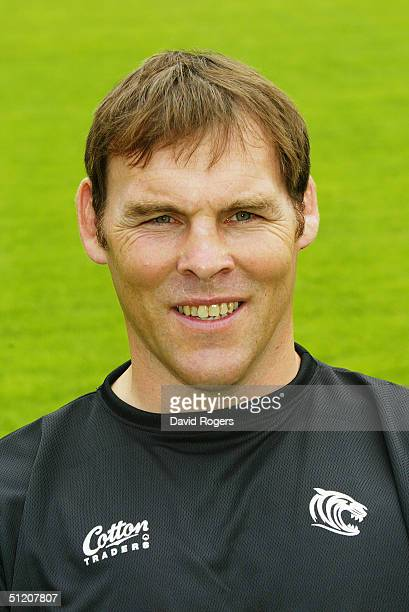 John Wells pictured during the Leicester Tigers Squad Photocall on July 21 2004 at Welford Road Leicester England