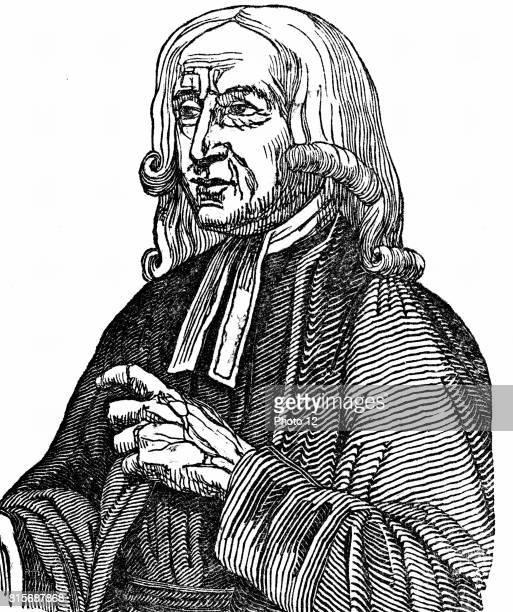 John Wesley English nonconformist preacher Founder of Methodism Woodcut 1832