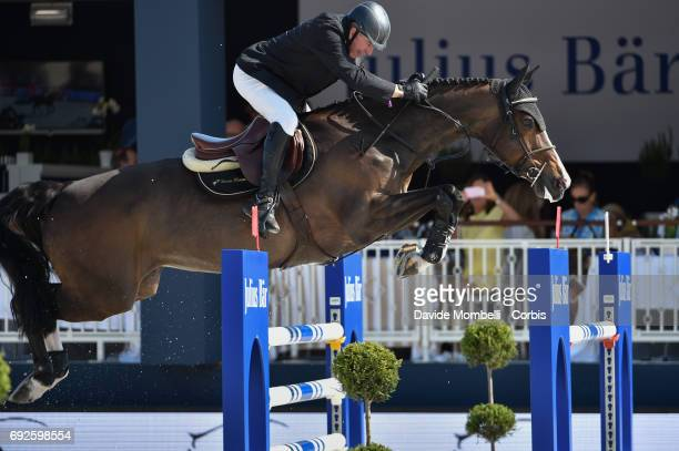 John Whitaker of England riding Ornellaia during the Longines Grand Prix Athina Onassis Horse Show on June 3 2017 in St Tropez France