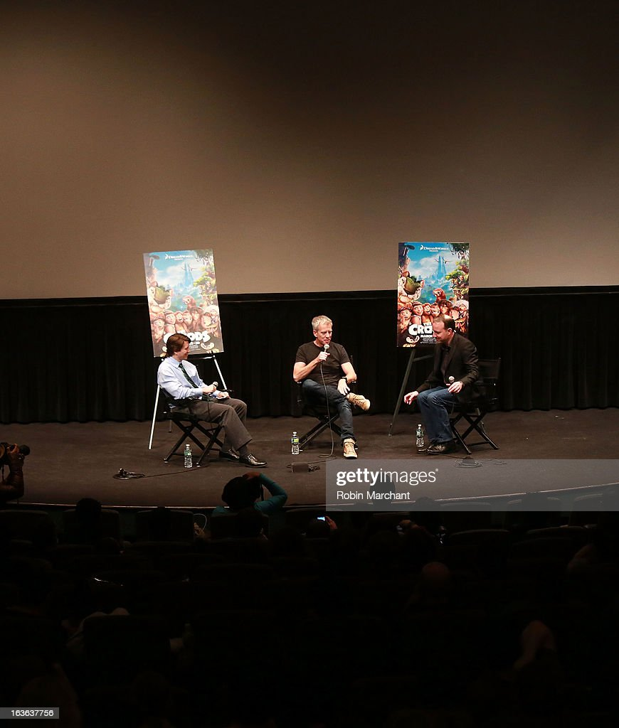 John Wildman, Chris Sanders and Kirk De Micco attend 'The Croods' screening at The Film Society of Lincoln Center, Walter Reade Theatre on March 13, 2013 in New York City.