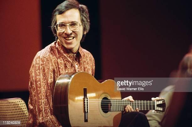 John Williams Australian classical guitarist playing the guitar during a live concert performance circa 1970