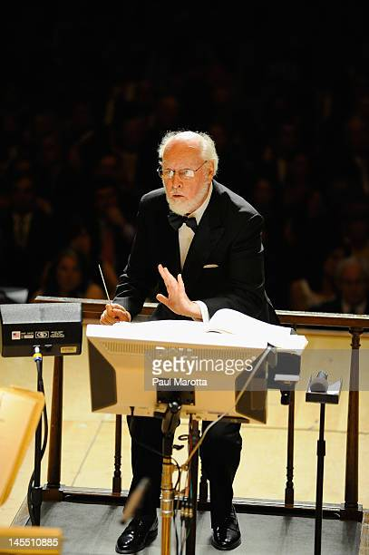 John Williams leads the Boston Pops at Symphony Hall on May 31 2012 in Boston Massachusetts