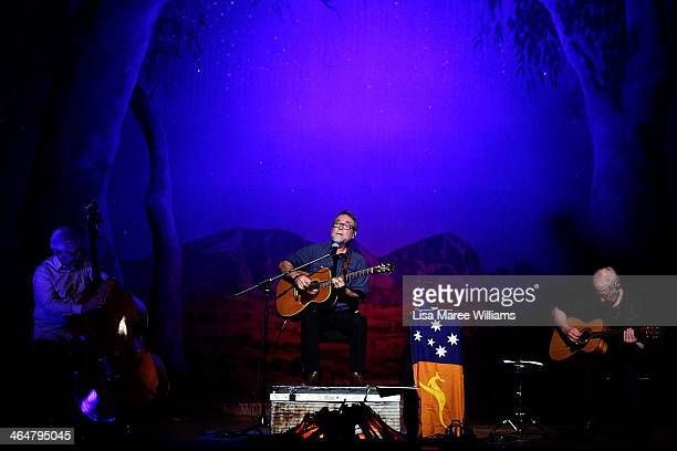 John Williamson performs at The Tamworth Town Hall during the 42nd Tamworth Coutry Music Festival on January 24 2014 in Tamworth Australia The...