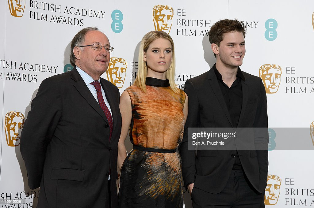 John Willis, Alice Eve and Jeremy Irvine attends The EE British Academy Film Awards nominations announcement at BAFTA on January 9, 2013 in London, England