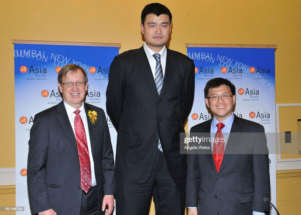 John Windler, NBA Great <a gi-track='captionPersonalityLinkClicked' href=/galleries/search?phrase=Yao+Ming&family=editorial&specificpeople=201476 ng-click='$event.stopPropagation()'>Yao Ming</a> and John Chiang attend a press conference at the Girard-Perregaux and Asia Society event honoring NBA Great <a gi-track='captionPersonalityLinkClicked' href=/galleries/search?phrase=Yao+Ming&family=editorial&specificpeople=201476 ng-click='$event.stopPropagation()'>Yao Ming</a> with Steve Nash at Millennium Biltmore Hotel on February 19, 2013 in Los Angeles, California.