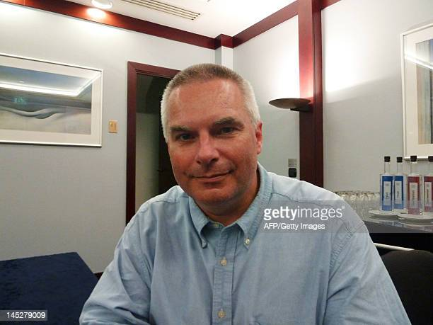 John Womersley chairman of the board of the SKA organisation poses for a photograph on the sidelines of a meeting dedicated to the Square Kilometre...