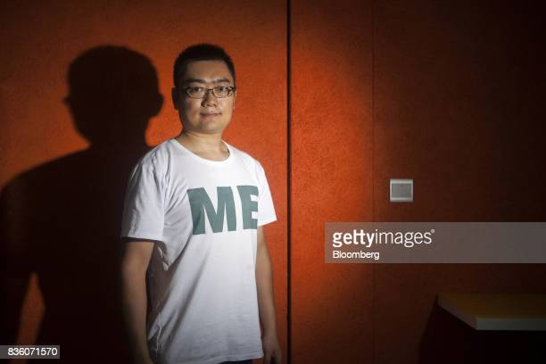 John Woo vice president of the AI Institute at Sinovation Ventures poses for a photograph at the venture's headquarters in Beijing China on Tuesday...