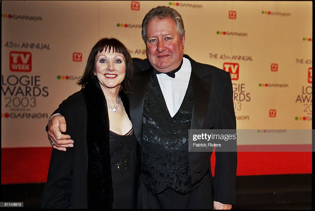 John Wood and guest arriving on the red carpet for the 45th Annual TV Week Logie Awards 2003 held at the Crown Casino Melbourne Australia
