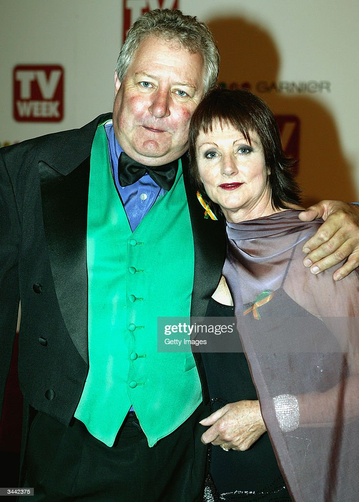 John Wood and his wife attend the 46th Annual TV Week Logie Awards at the Crown Entertainment Complex April 18 2004 in Melbourne Australia