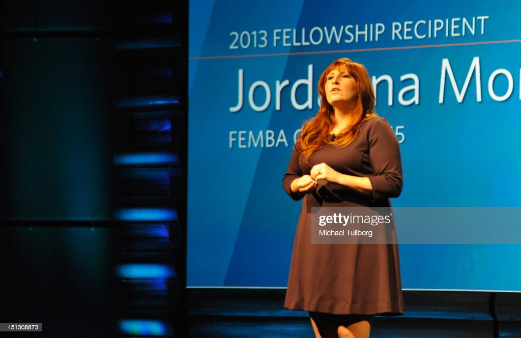 John Wooden Fellowship Recipient Jordanna Mora speaks at the 2013 John Wooden Global Leadership Awards hosted by the UCLA Anderson School of Management at The Beverly Hilton Hotel on November 21, 2013 in Beverly Hills, California.