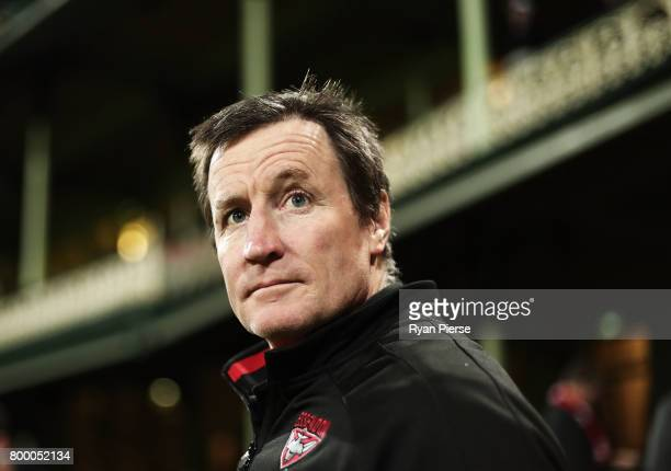 John Worsfold coach of the Bombers looks on during the round 14 AFL match between the Sydney Swans and the Essendon Bombers at Sydney Cricket Ground...