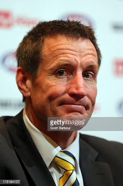 John Worsfold speaks following the announcement of the AFL Multicultural Team of Champions Announcement at Crown Palladium on July 9 2013 in...