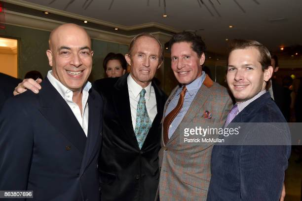 John Yunis Mark Gilbertson Bryan Huffman and Guy Tunnicliffe attend the launch of Second Bloom Cathy Graham's Art of the Table hosted by Joanna Coles...