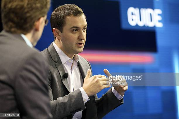 John Zimmer cofounder and president of Lyft Inc speaks during the WSJDLive Global Technology Conference in Laguna Beach California US on Tuesday Oct...