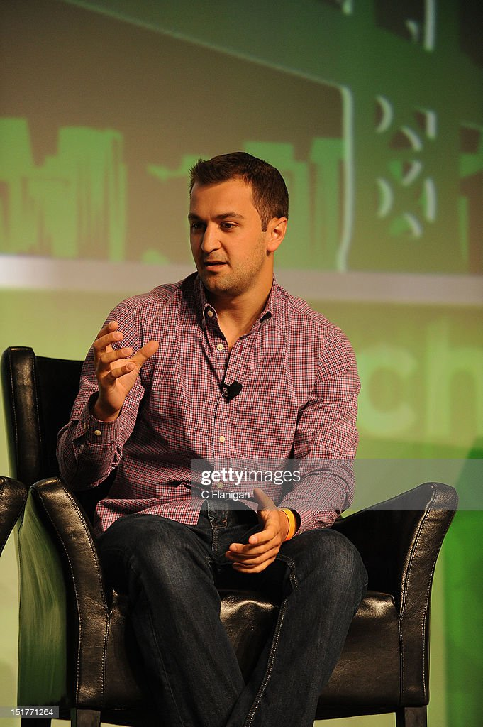 John Zimmer founder of Lyft speaks at the Tech:Crunch Disrupt SF 2012 Conference on September 10, 2012 in San Francisco, California.