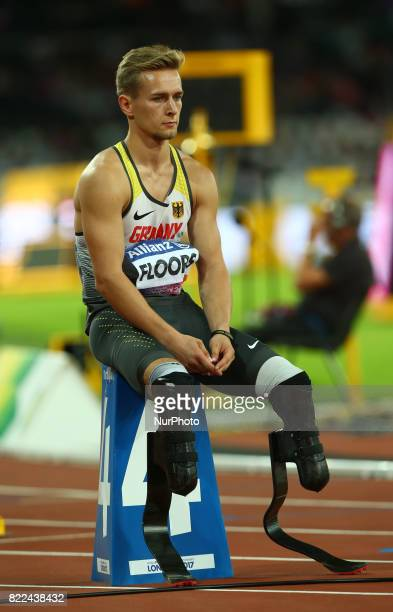 Johnannes Floors of Germany compete Men's 400m T43 Final during World Para Athletics Championships Day Three at London Stadium in London on July 17...