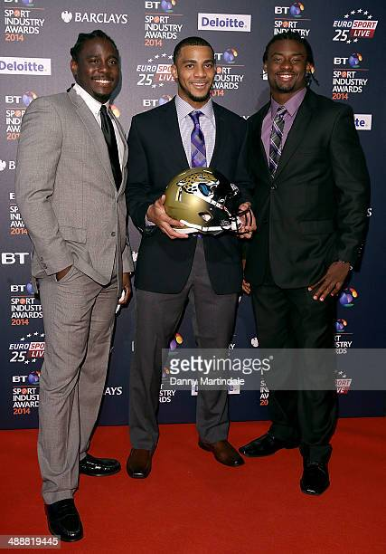 Johnathan Cyprien attends the BT Sport Industry Awards at Battersea Evolution on May 8 2014 in London England