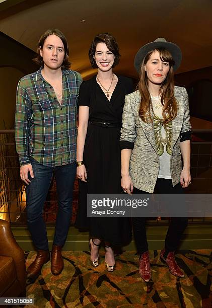 Johnathan Rice Anne Hathaway and Jenny Lewis attend the LA Times' Indie Focus Screening Series 'Song One' at Sundance Cinema on January 13 2015 in...