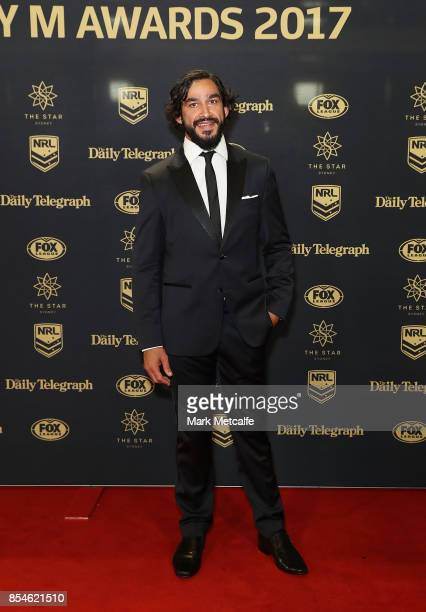 Johnathan Thurston arrives ahead of the 2017 Dally M Awards at The Star on September 27 2017 in Sydney Australia